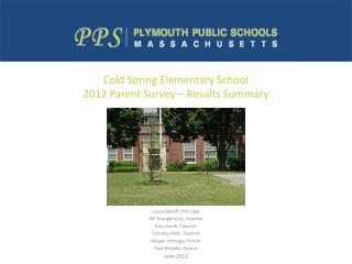 Cold Spring Elementary School 2012 Parent Survey – Results Summary