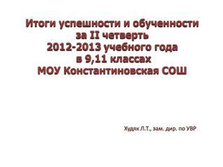 Худяк Л.Т., зам.  дир . по УВР