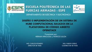 ESCUELA POLITÉCNICA DE LAS FUERZAS ARMADAS - ESPE