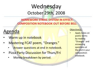 Wednesday October 29th, 2008