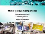 Mini-Fieldbus Components