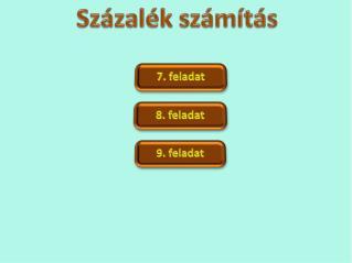 Százalék számítás  - 7. feladat