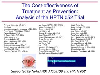 The Cost-effectiveness of  Treatment as Prevention:  Analysis of the HPTN 052 Trial