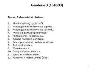 Geodézie  3 (154GD3)