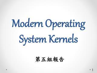 Modern Operating System  Kernels