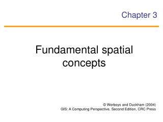 Fundamental spatial concepts
