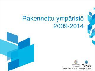 Rakennettu ympäristö 2009-2014