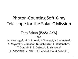 Photon-Counting Soft X-ray Telescope for the Solar-C Mission