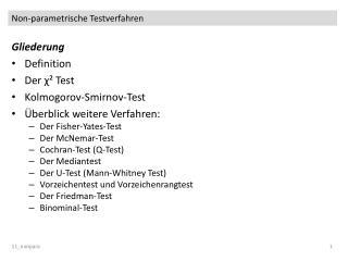 Non-parametrische Testverfahren