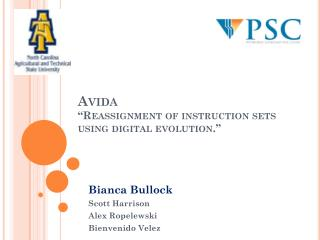 "Avida ""Reassignment of instruction sets using digital evolution."""