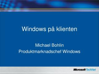 Windows p� klienten