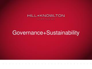 Governance+Sustainability