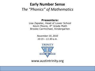 "Early Number Sense The ""Phonics"" of Mathematics"