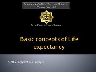 Basic concepts of Life expectancy