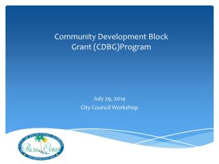 Community Development Block  Grant (CDBG)Program