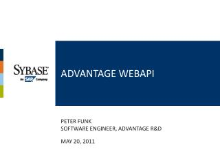Advantage  webapi