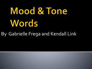 Mood & Tone  Words