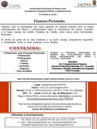 Universidad Autónoma de Nuevo León Facultad de Contaduría Pública y Administración