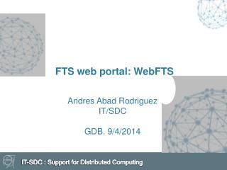 FTS  web portal: WebFTS