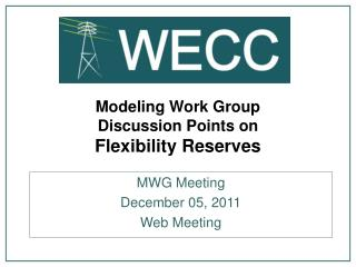 Modeling Work Group Discussion Points on Flexibility Reserves