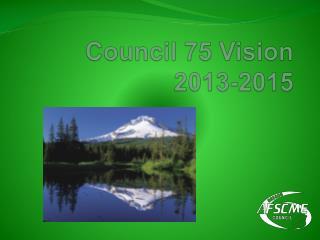 Council 75 Vision   2013-2015