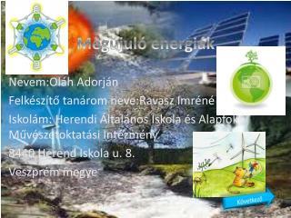 Megújuló energiák