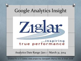 Google Analytics Insight