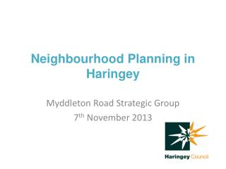 Neighbourhood Planning in Haringey