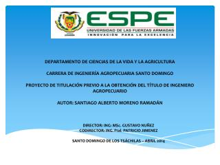 DIRECTOR :  ING:  MSc . GUSTAVO  NUÑEZ CODIRECTOR: ING.  Ftal . PATRICIO  JIMENEZ