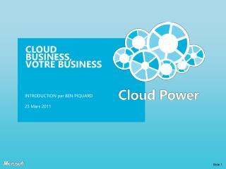 Cloud Business, Votre  Business