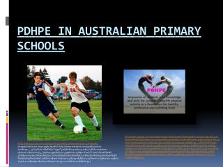 PDHPE In Australian Primary Schools