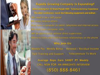 Rapidly Growing Company  Is Expanding!!