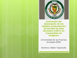 Universidad de las Fuerzas Armadas-ESPE Nombre: Belén Tipantuña