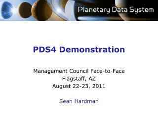 PDS4 Demonstration