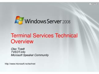 Terminal Services Technical Overview