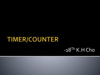 TIMER/COUNTER