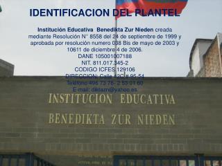 IDENTIFICACION DEL PLANTEL