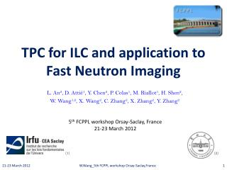 TPC for ILC and application to Fast Neutron Imaging