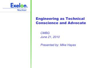 Engineering as Technical Conscience and Advocate