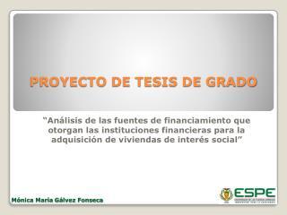 PROYECTO DE TESIS DE GRADO