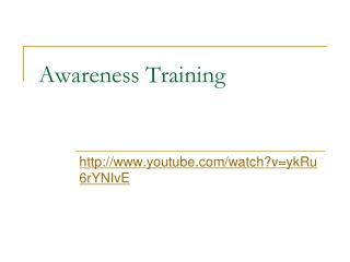 Awareness Training