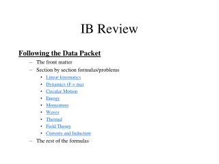 IB Review