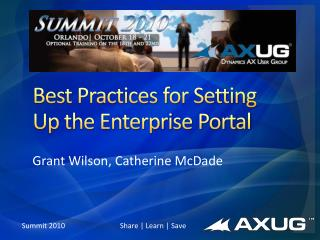 Best Practices for Setting Up the Enterprise Portal