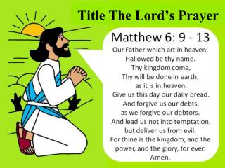 Title The Lord's Prayer