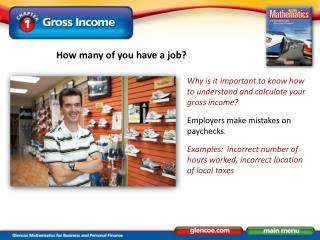Why is it important to know how to understand and calculate your gross income?