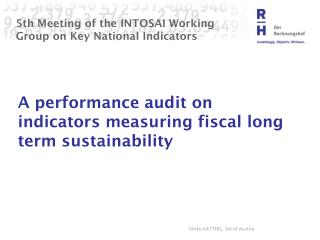 5th Meeting of the INTOSAI Working Group on Key National Indicators