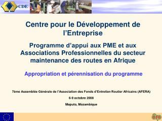 7ème Assemblée Générale de l'Association des Fonds d'Entretien Routier Africains (AFERA)