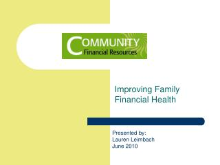Improving Family Financial  Health