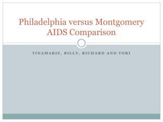 Philadelphia versus Montgomery AIDS Comparison