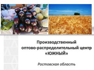 Производственный  оптово-распределительный центр «ЮЖНЫЙ» Ростовская область